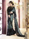 Satin Designer Saree with Black Color