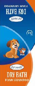 Petswill Dry Bath Foam Orange Shampoo
