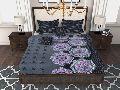 Factorywala Premium Cotton Floral Print Purple Colour Single Bed Sheet