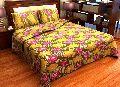 Factorywala Premium Cotton Floral Print Yellow Colour Double Bed Sheet