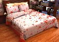 Factorywala Premium Cotton Romantic Floral Print Double Bed Sheet