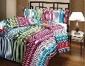 Striped Printed Cotton AC Single Bed blanket