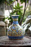 Blue Pottery Matka Vase