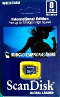 ScanDisk Memory Card 8GB
