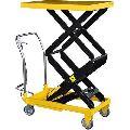 scissor lifting material handling trolley