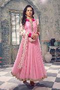 Patel Marketers baby pink net desiner  salwar suit pm-69