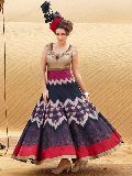 Patel Marketers  Royal blue bhagalpuri desiner salwar suit 36