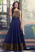 Patel Marketers  Royal blue five star net desiner salwar suit pm-7