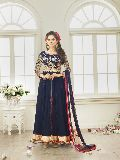 Patel Marketers  Royal blue soft net desiner  salwar suit pm-18