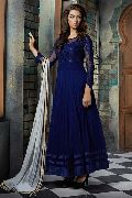 Patel Marketers  Royal blue soft net desiner   salwar suit pm-22