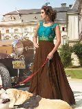 Patel Marketers  Royal brown georgette desiner salwar suit 52