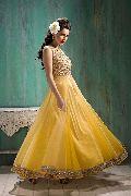 Patel Marketers  Royal yellow soft net desiner salwar suit pm-23