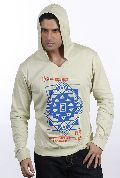 Mens Pista Green Denim Fashions Hooded Sweat Shirt
