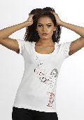 Women White Tepy T shirt