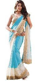 firoji  color Georgette With Net Brasso  saree