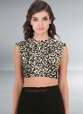 New Latest Black color Printed unstitch Blouse