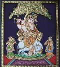 Tree Krishna Tanjore Painting