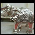 Silver Inlay Elephant Statues