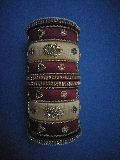 Fancy silk thread bangle