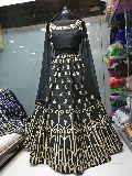 black bridal lehnga