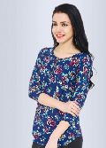 Orchard 3/4 Sleeve Floral Beautiful Top