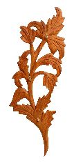 Wooden Leaf Shaped Single Piece Key Hanger