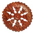 Wooden Flower Shaped Single Piece Key Hanger