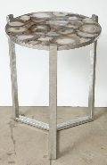SSF11010 Iron & Agate Stone Side Table