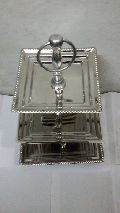 stainless steel square cake stand