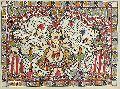 Ganesha With Ridhi & Sidhi Art Posters