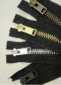Metal Closed End Zipper