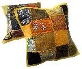 25pc Yellow Embroidery Cushion Cover