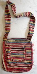 Cotton Canvas Indian Sling Cross Body Bag