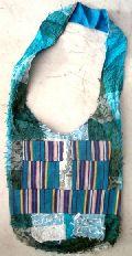 Cotton Canvas Boho Handcrafted Fringes Hippie Indian Sling Cross Body Long Shoulder Bag