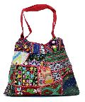 Cotton Canvas Multi Color Heavy Embroidery Mirror Work Hippie Boho Tote Indian Sling Shoulder Bag