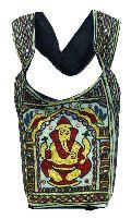 Traditional Elephant God Lord Ganesha Embroidery Indian Rajasthani Art Deco Tote Ladies Bag