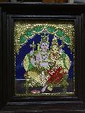 Shiv Parvati Tanjore Paintings
