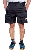 Mens Regular Fit Dobby Cotton Black Colour Shorts