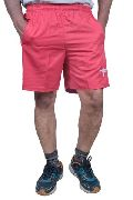 Mens Regular Fit Dobby Cotton Red Colour Shorts
