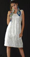 Ladies Brocade Frock One Piece Dress