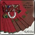 akc brand chettinad printed cotton sarees