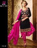 cotton embroidery patiala suits