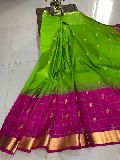 gadwal pattu sarees with contrast blouse and running blouse