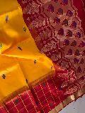 gadwal soft silk sarees with check border