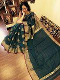 khadi silk cotton sarees with running blouse