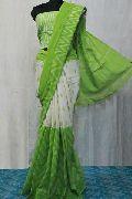 mercerised ikkat cotton printed sarees with running blouse