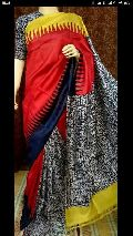 murshidabad hand painted silk sarees