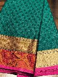 muslin silk blended sarees with weaving border