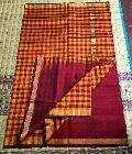 pure handloom silk cotton sarees with check pallu