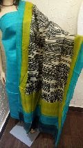 pure khadi silk top with pure tussar dupatta